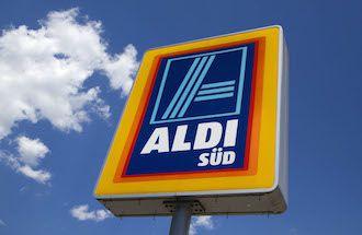 Themenbild Discounter Elzach 19 07 2014 Werbeschild Logo Aldi Süd EP_dfg